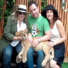 We got to visit with Nala, a baby lion being cared for near La Bufadora.