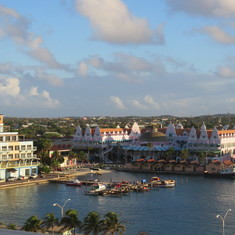 Oranjestad. View form the board