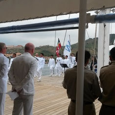 Port Vendres, France - Philippines 171st independance ceremony on Windsurf