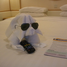 We looked forward to the towel animals that Orson left for us in the evening.
