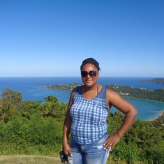 Charlotte Amalie, St. Thomas - The boss with Megan's bay in the background