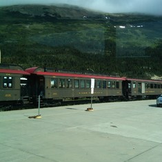 White Rail Pass Train--Skagway, AK