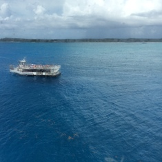 Transported from ship to island, AWESOME