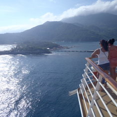 Backing into Labadee, Haiti
