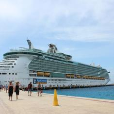 Freedom of the Seas in Cozumel.