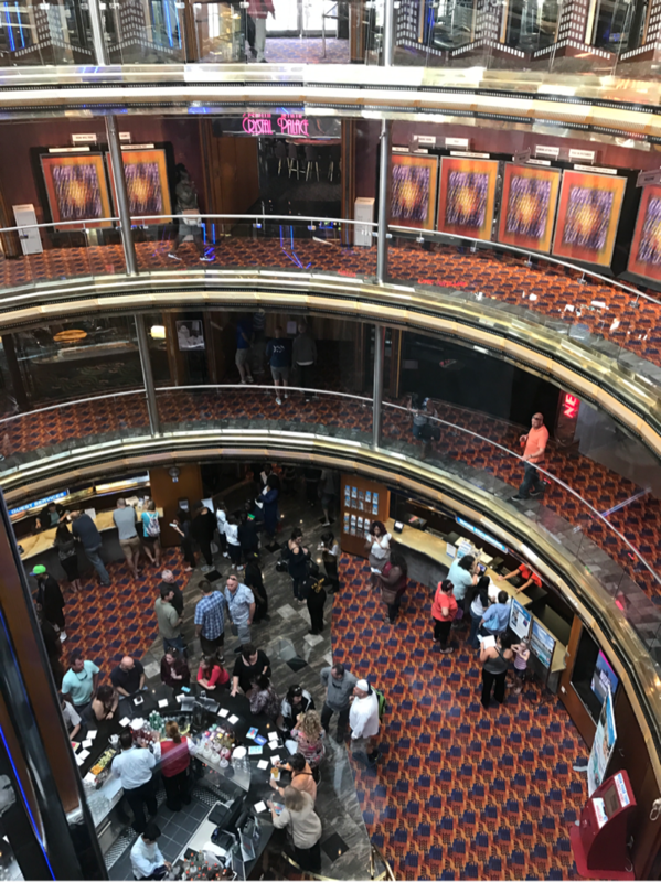 The Atrium about to debark. - Carnival Ecstasy