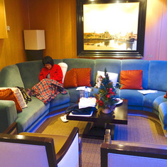 Penthouse Living Room.  Even a nice cabin cannot stop sea sickness! ;)