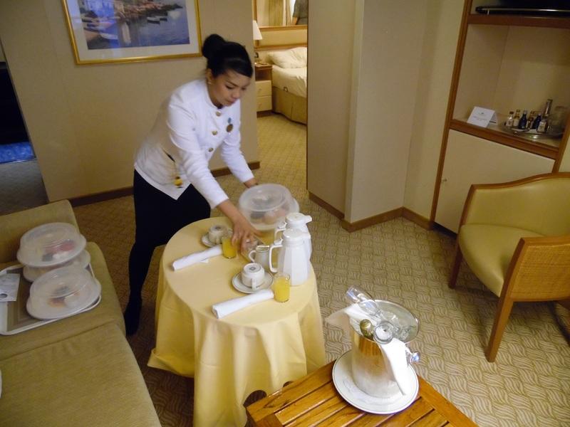 Room service. - Crown Princess