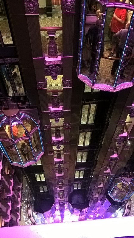 Elevators, 12 decks - Carnival Pride