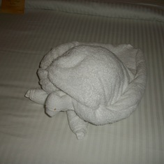 Turtle towel critter