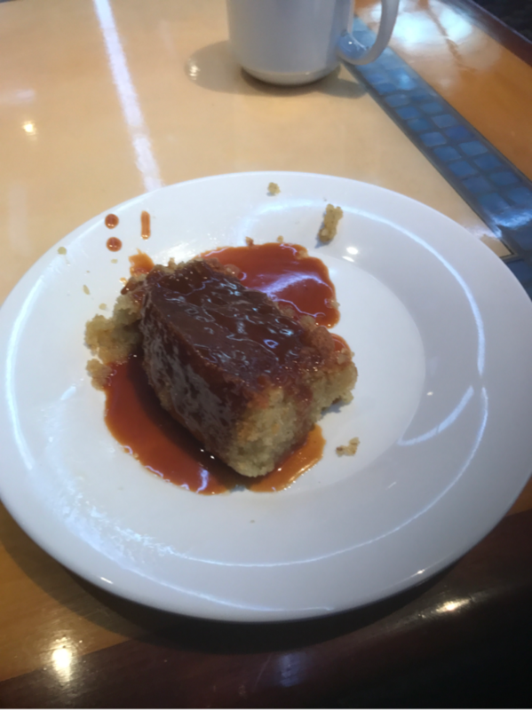 Banana Bread Pudding with Butterscotch Sauce (Sweet Spot) - Carnival Magic