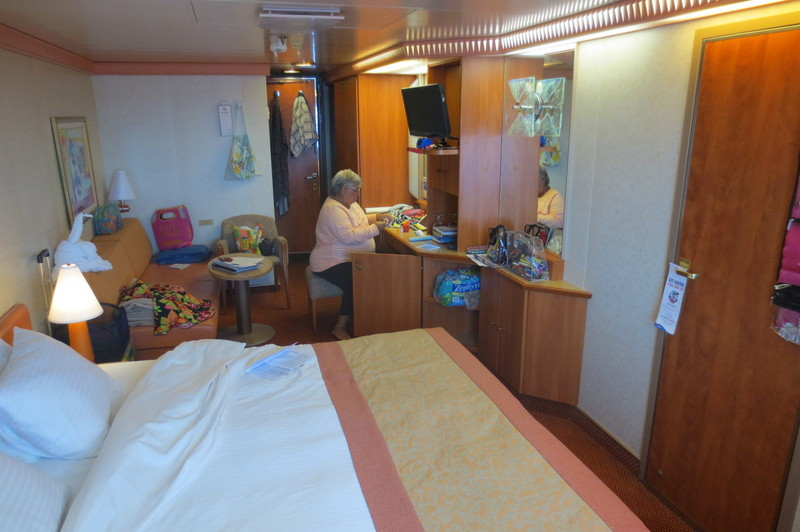 Carnival Liberty cabin 1407 - our room