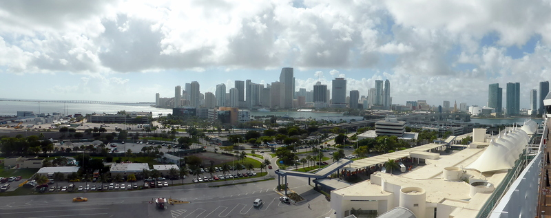 View of Port and Ft Lauderdale - MSC Divina