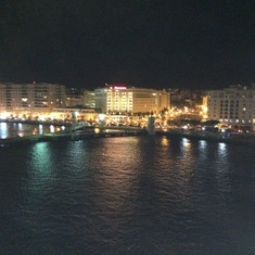 San Juan at night from our balcony