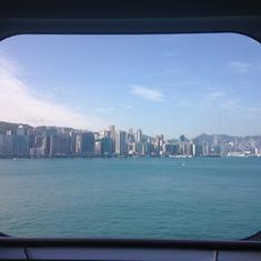 Hong Kong from cabin 4067