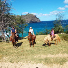 Horseback riding on Kauai