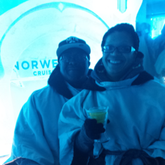 Ice Bar on Norwegian Getaway