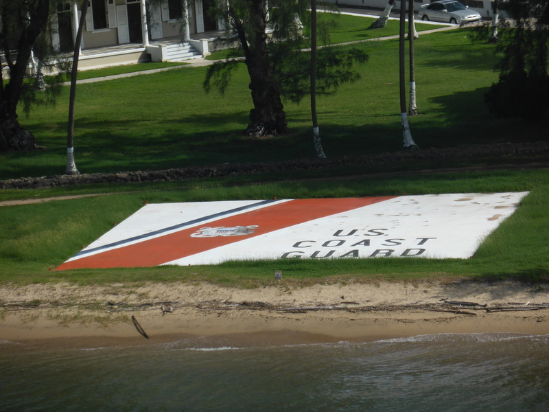 US Coast Guard Sign on Lawn - Carnival Dream