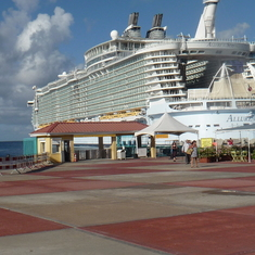 At the dock, Allure of seas