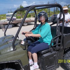 Dune buggy excursion in Grand Turk.