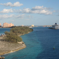 entering Nassau