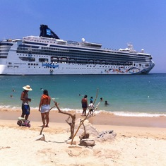 The ship from the beach