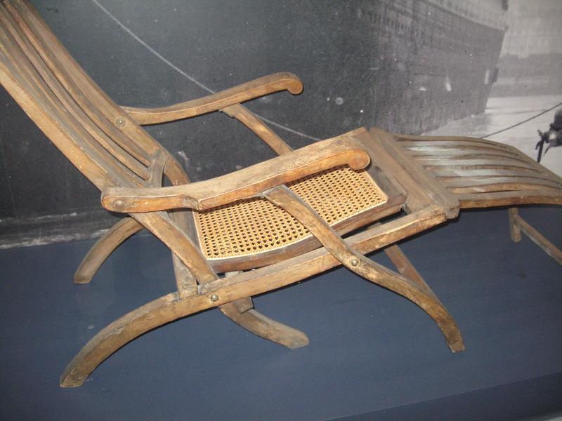 Only surviving original Titanic deck chair, Halifax museum - Royal Princess