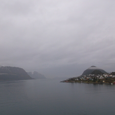 coming in to alesund, norway. beautiful.
