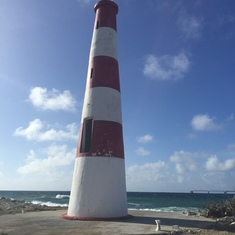 really small lighthouse on Grand Bahama, Freeport West End Tour