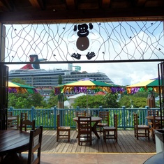 Mahogany Bay, Roatan, Bay Islands, Honduras - the bar