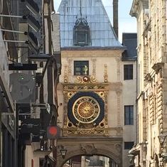 Famous clock in Rouen