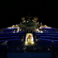 On deck at night