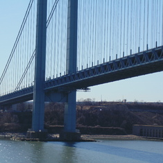 "The 'famous"" Verrazano bridge."