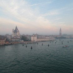 Arriving in Venice