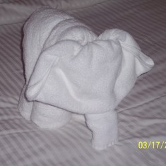 Towel Art found on our beds!