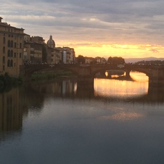 Sunset over the Arno--Florence, Italy