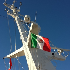while docked in ensenada