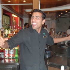 Bartender Dancing at Farewell Party