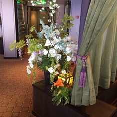Fresh flowers in the lounge