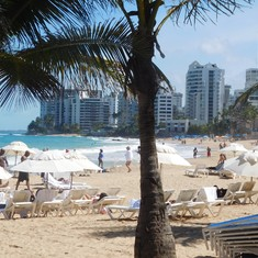 San Juan, Puerto Rico - One of the beaches in San Juan.