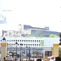 A view of the Spanish fort as we reboarded our ship in San Juan, Puerto Rico.