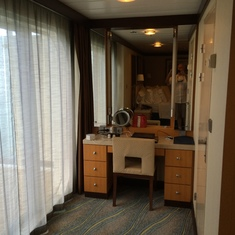 Dressing area of the master bedroom