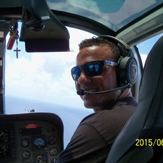 Grand Turk Island - The HOT helicopter pilot.