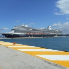 Koningsdam docked in Corfu, Greece