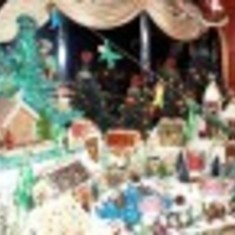 gingerbread village 9th forward by Cole Porter lounge
