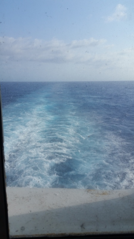 Carnival Paradise cabin E240 - View from Stateroom!