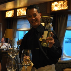 Pouring another glass in Vines on Royal Princess