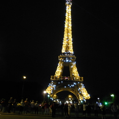 Paris, France - Eiffel Tower at Night