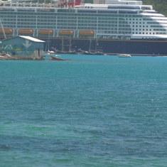 Disney Fantasy at port in St Thomas