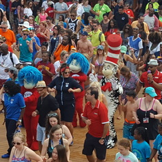 Dr. E and Cat in the Hat doing the Electric Slide